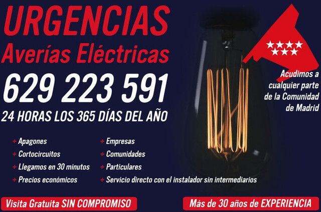 ELECTRICISTA MADRID ECONOMICO 629223591 - foto 2