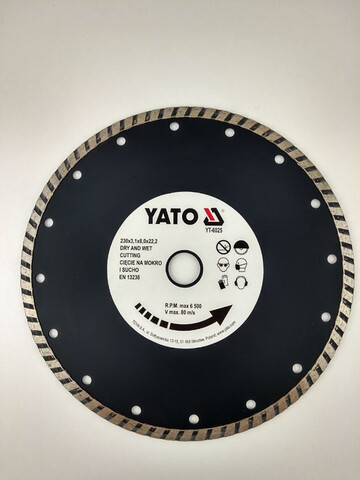 Disco De Corte Diamante Turbo 230Mm