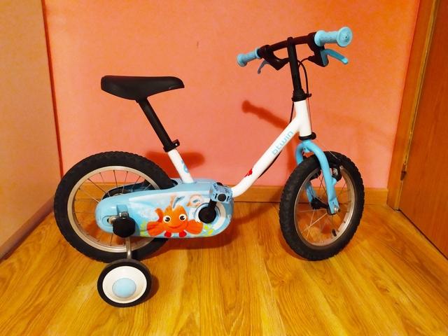 Bicicleta Con Ruedines 14 Pulgadas