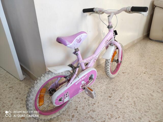 """Bicicleta De Hello Kitty De 14"""""""