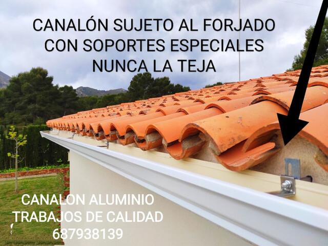 Campoamor Orihuela Canalón Aluminio