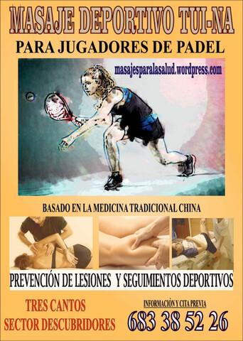 Masajes Deportivos Practicantes  Paddel