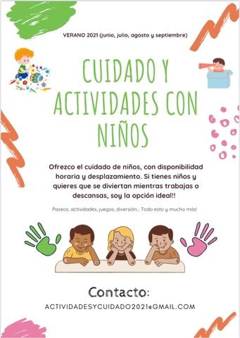 CUIDADO Y ACTIVIDADES CON NIÑOS - foto 1