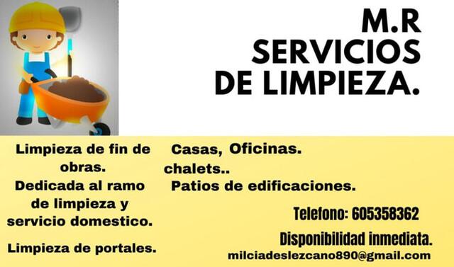 SERVICIO DE LIMPIEZA M. R.  - foto 1