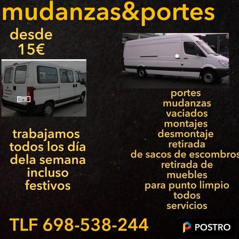TRANSPORTES Y MUDANZAS DESDE 15 - foto 1