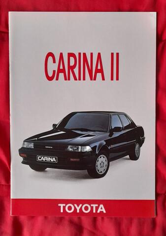 CATÁLOGO TOYOTA CARINA II .  FR .  1988 - foto 1