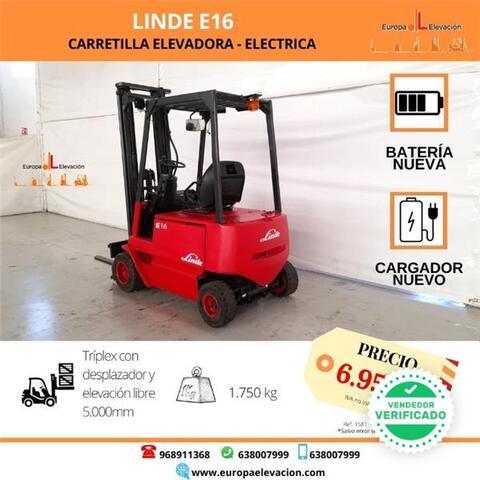 LINDE E16 - BATERÍA NUEVA - TRÍPLEX - foto 1