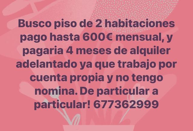BUSCO PISO 2HB,  PAGO 4 MESES ADELANTADO - foto 1