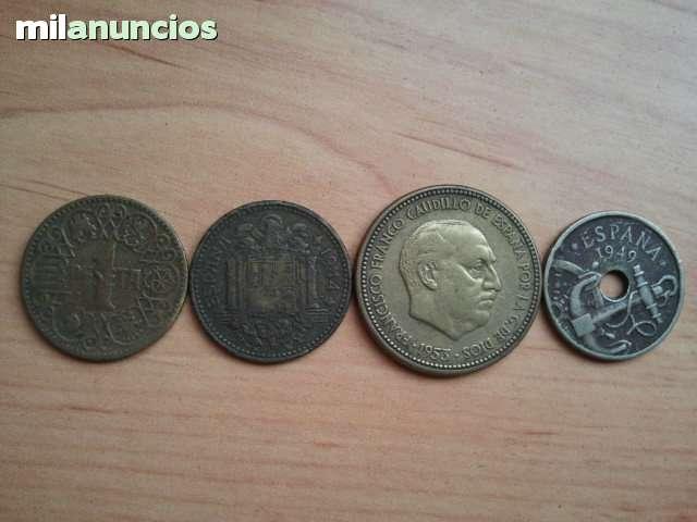 Monedas Y Billete Antíguo