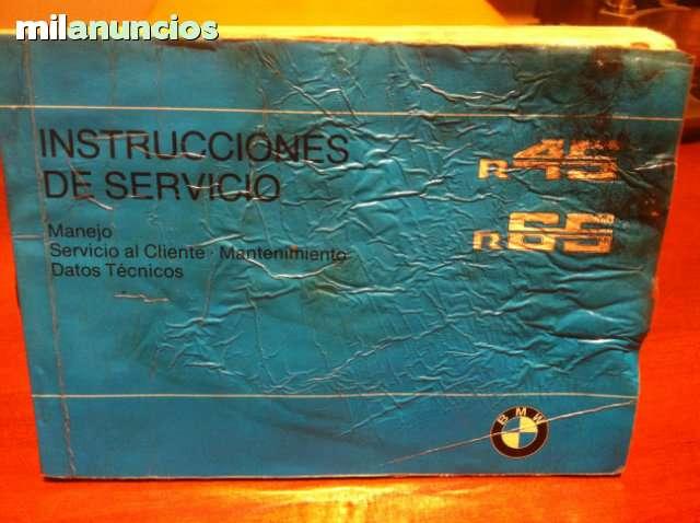 Antiguo Manual Del Usuario De Bmw R-45