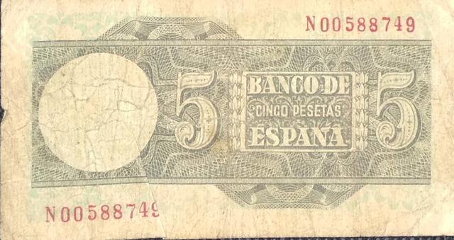 5 Pts 1948 S.N00588749, Ultima Emitida