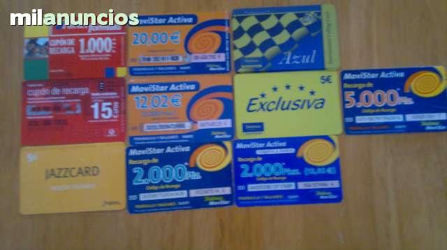 TARJETAS TELEFONICAS Y DE RECARGAS - foto 9
