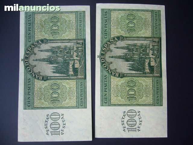 Cambio 2 Billetes Correlativos   1936