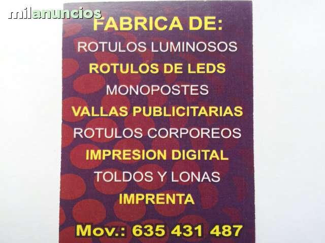 MONOPOSTES Y MONOLITOS,  ROTULOS OLMEDO - foto 4