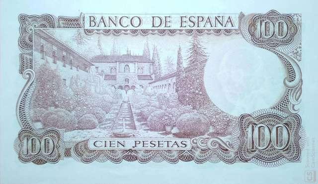 100 Pts 1970 Sin Circular/Plancha