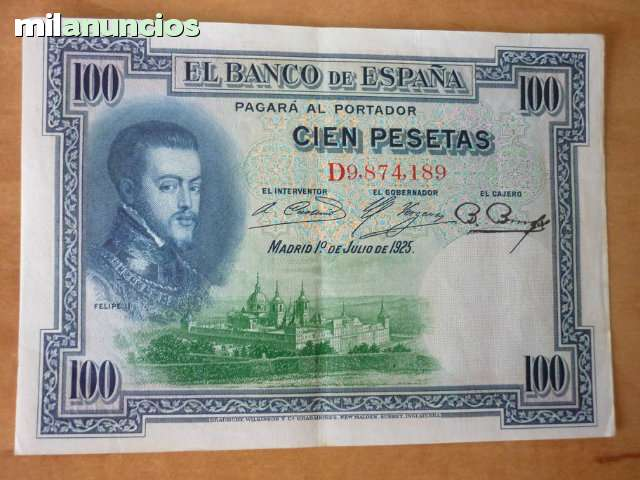 Billetes De 100 Pts De 1925