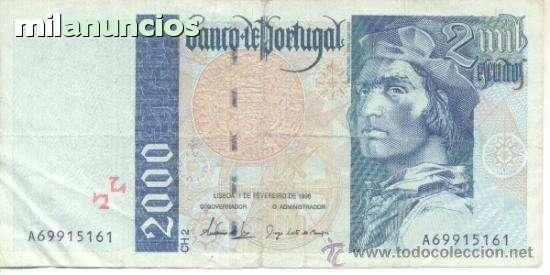 Escudos  Billete De 2000 Portugal