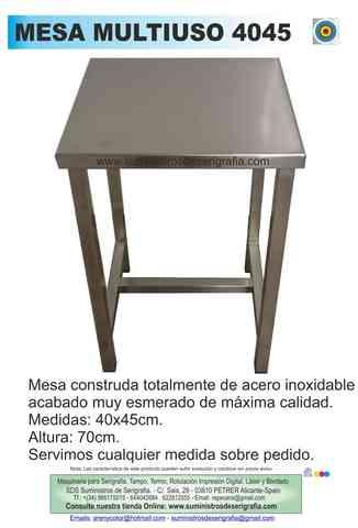 MESA ACERO INOXIDABLE - foto 2