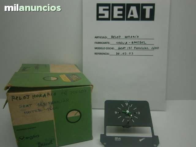 RELOJ HORARIO SEAT 131 FAMILIAR 1600 - foto 1
