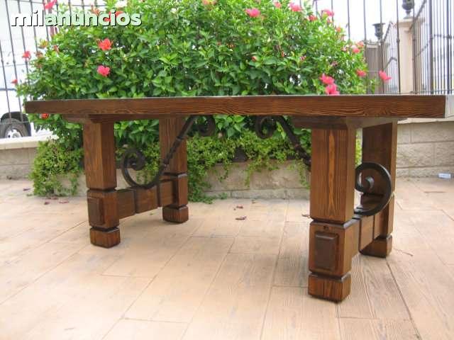 MIL ANUNCIOS.COM - Mesa rustica madera y forja