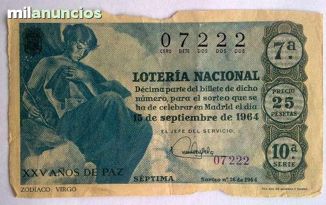 REBAJADO LOTERÍA 1964 Y AÑOS 80 - foto 1