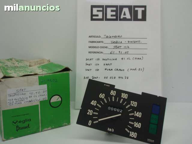 SEAT 127 TACOMETRO VELOCIMETRO - foto 1