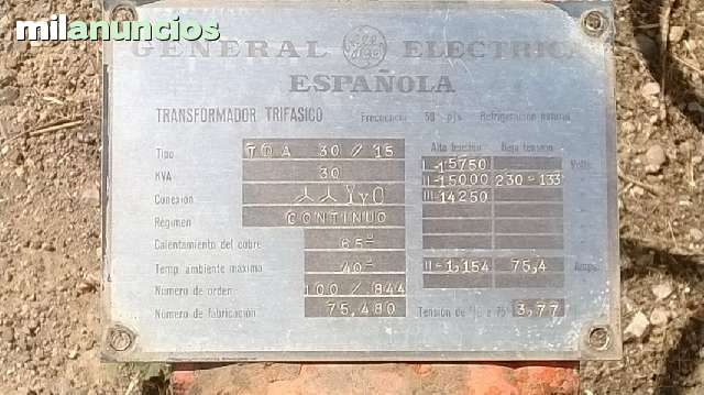 TRANSFORMADOR DE 30 KVEAS (KWA) TRIFASIC - foto 3