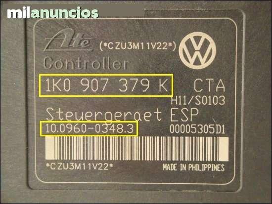 BOMBA ABS VW GOLF 5 1K0614517H 1K0907379 - foto 3