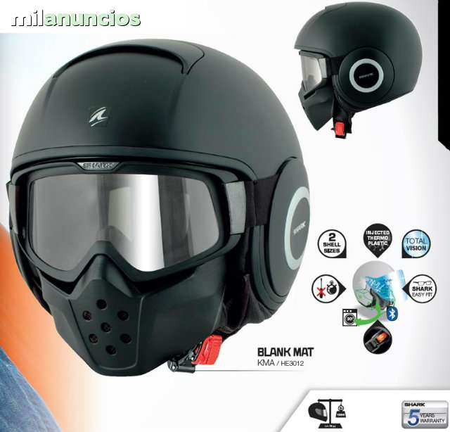 CASCO CUSTOM SHARK RAW - foto 1
