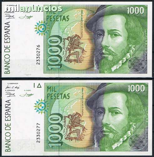 Billetes Correlativos De 1000 Pesetas