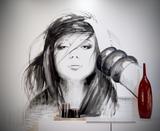 Graffiti, pintura mural - foto