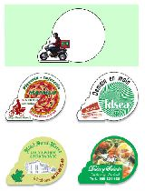Imanes para pizzeria, comercio, servicio - foto