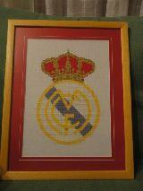 cuadro con el escudo del Real Madrid - foto