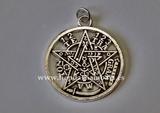 Colgante Tetragramatón plata de ley 17 - foto
