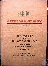 HISTORIA DEL NUEVO MUNDO.  TOMO I - foto
