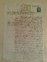 Documento de 1877 Valle de la serena - foto