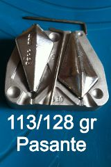 Molde trapezoidal pasante 128-113 gr. - foto