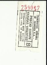 billetes autobus - foto