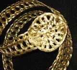 Cinturón joya baño de oro - foto