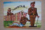 Antiguedad años 60 Franco tarjeta postal - foto