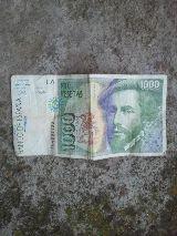 Billete de 1000 pesetas, hernan cortes - foto