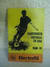 Antiguo calendario de fútbol 1969-1970 - foto