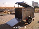Remolque de aluminio con rampa y tapa - foto