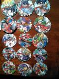 15 tazos silver mega spinners (jugados) - foto