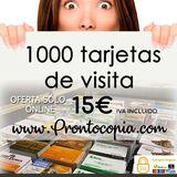 tarjetas de visita 15 euros iva incluido - foto