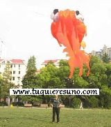 3D LARGE GOLDFISH SOFT KITE-3M PARAFOIL - foto