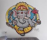 Pintor de graffitis en la Palma Tenerife - foto