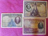100;50;25 pesetas 1928 de la serie A - foto