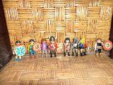 playmobil de 8 muñecos de medival - foto
