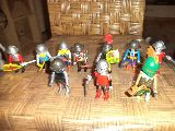 playmobil lote de medieval 10 muñecos - foto